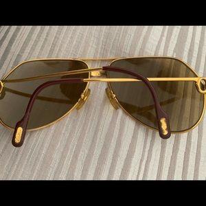 f64c7683a74e Cartier Accessories - Cartier Santos Unisex Aviators 18k gold frames